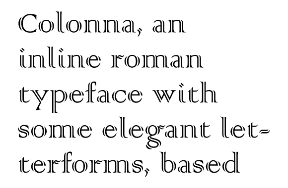 Inline outline handtooled fonts no 1 typecache com for Colonna finta