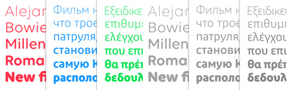 Volte Rounded' Diodrum Cyrillic and Diodrum Greek by @itfoundry